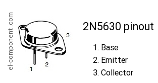 Transistor 2N5630 TO-3 2N5630