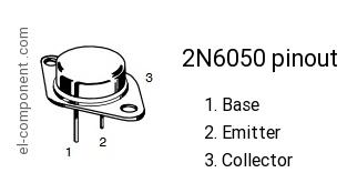 2N6050 Transistor TO-3 2N6050
