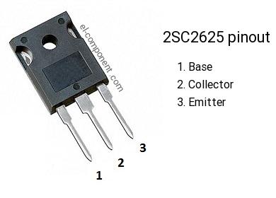 Pinout of the 2SC2625 transistor, marking C2625