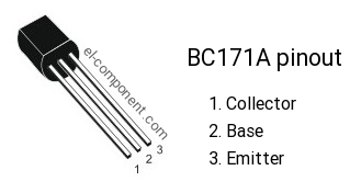 LOT OF 10 BC171A TRANSISTOR TO-92