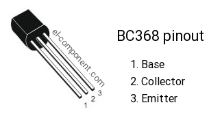 Pinout of BC368 transistor