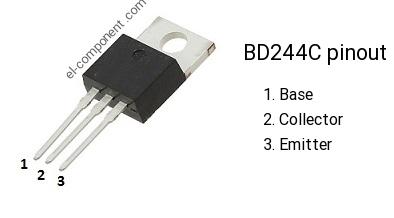 Transistor bd series TO-220 BD243C BD244C BDX33C BDX53C BDX54C