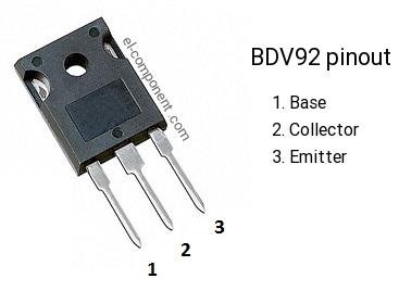 BDV92 transistor pinout