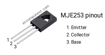 MJE253 pnp transistor complementary npn, replacement, pinout, pin ...