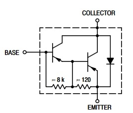 TIP127 equivalent circuit
