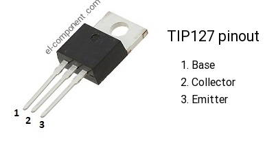 TIP127 pnp transistor complementary npn, replacement ...