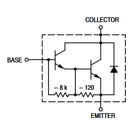 TIP132 equivalent circuit