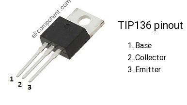 LOT OF 5 TIP136 TRANSISTOR TO-220