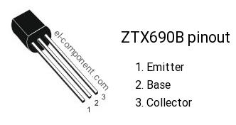MAKE ZETEX LOT OF 120pcs ZTX690B TRANSISTOR TO-92-3 CASE